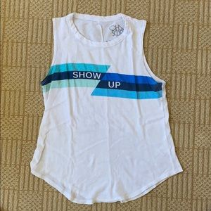 Peloton X Chaser Show Up Tank White